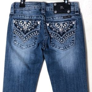 🔵 New Miss Me Jeans Signature Boot Cut
